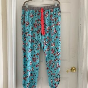 Love to lounge pajama/pants women's large floral